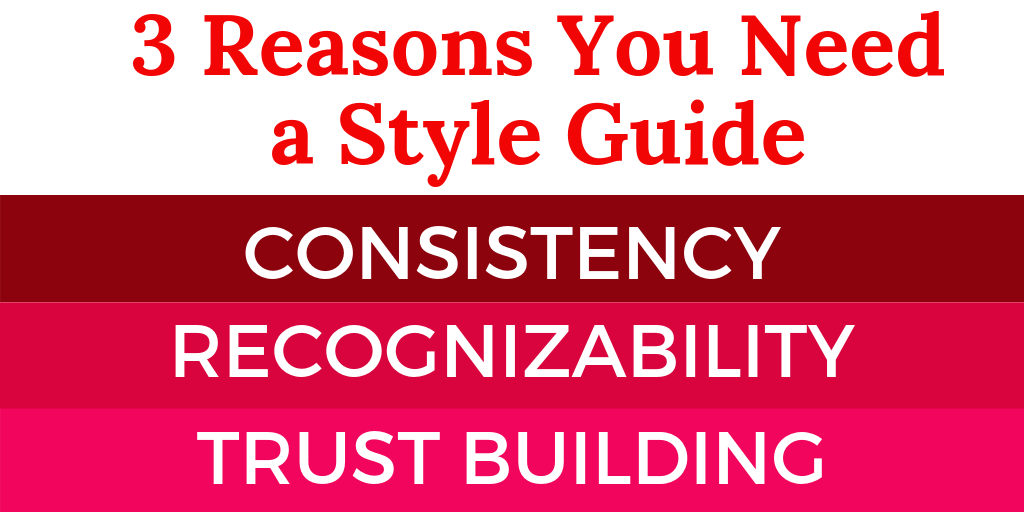 3 Reasons You Need a Style Guide: Consistency, Recognizability, Trust Building