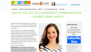 Screen Shot of Day in the Life of a Nonprofit Communicator Laurice Grae-Hauck